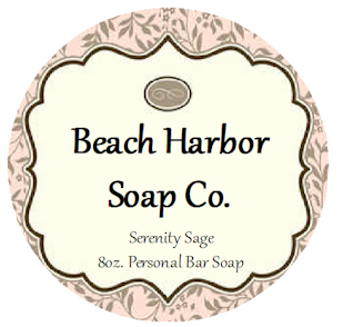 round soap candle labels