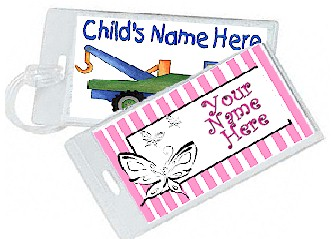 Church Nursery Diaper Bag Tags http://www.labelcreations.com/bagtags.html