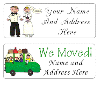 Family and Moving Address Labels