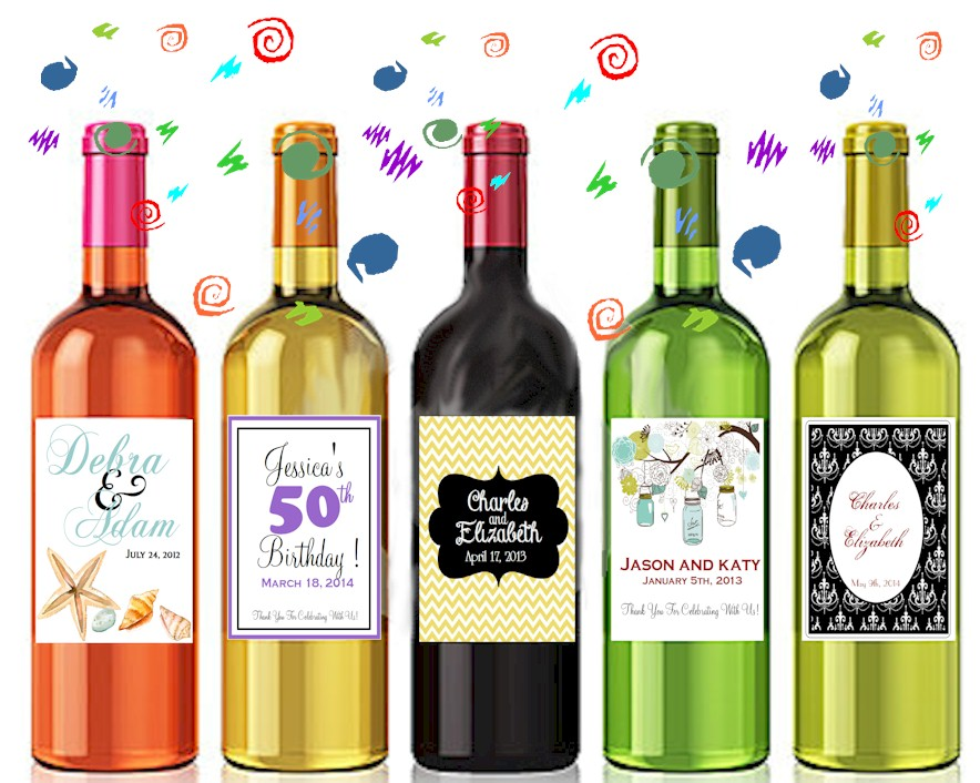 It is a picture of Clever Wine Bottles and Labels