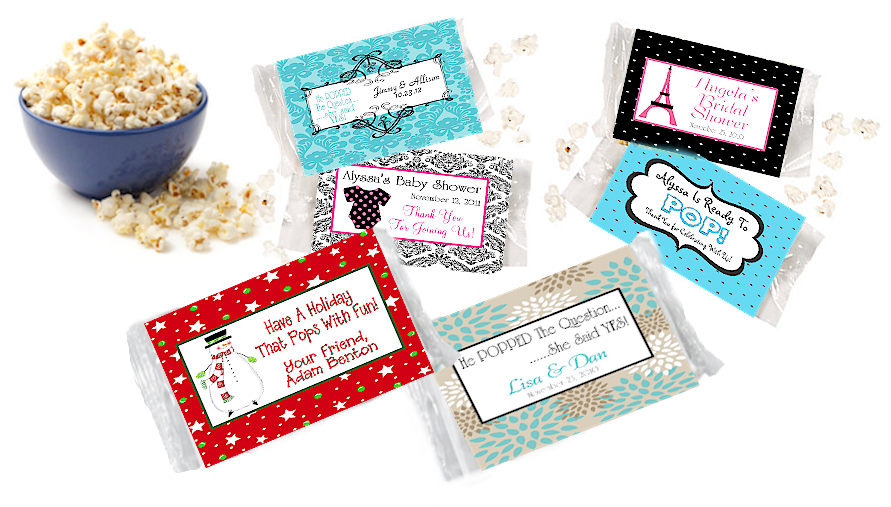 labels use these popcorn wrapper labels to personalize your popcorn ...